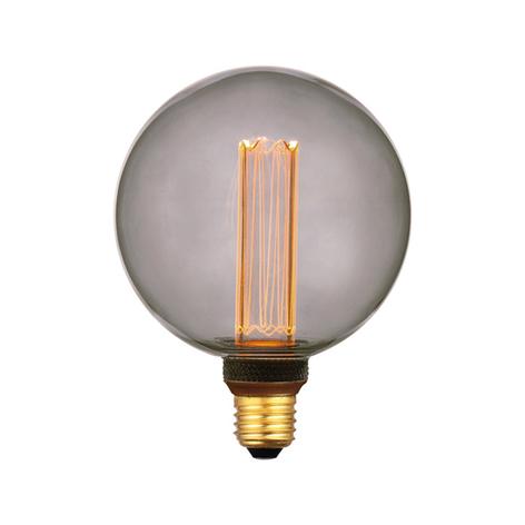 LED-bollamp E27 5W, warmwit, 3-step-dim, smoke