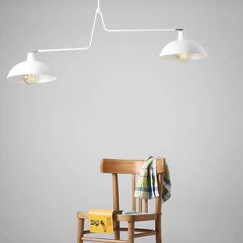 Hængelampe 1036, 2 lyskilder, hvid