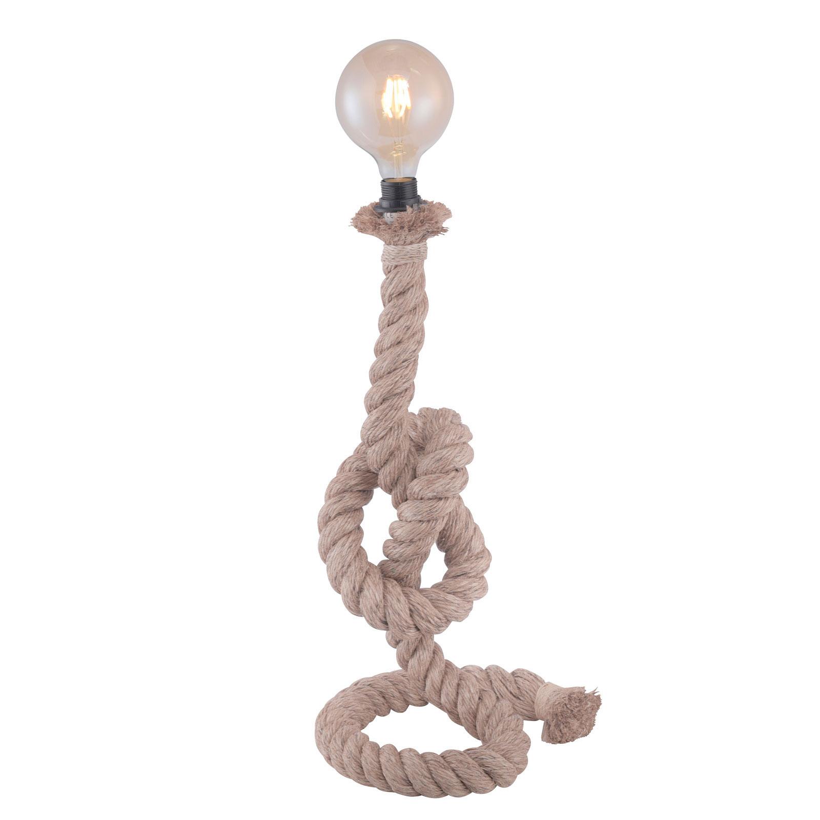 Lampa stołowa Rope wykonana z grubej liny