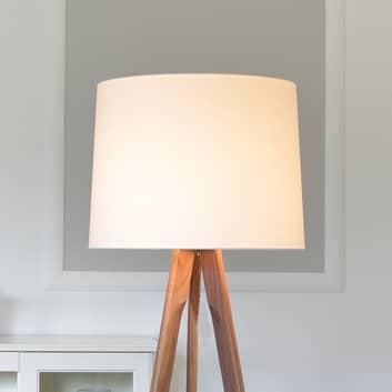 HerzBlut Tre lampada da terra a treppiede, legno