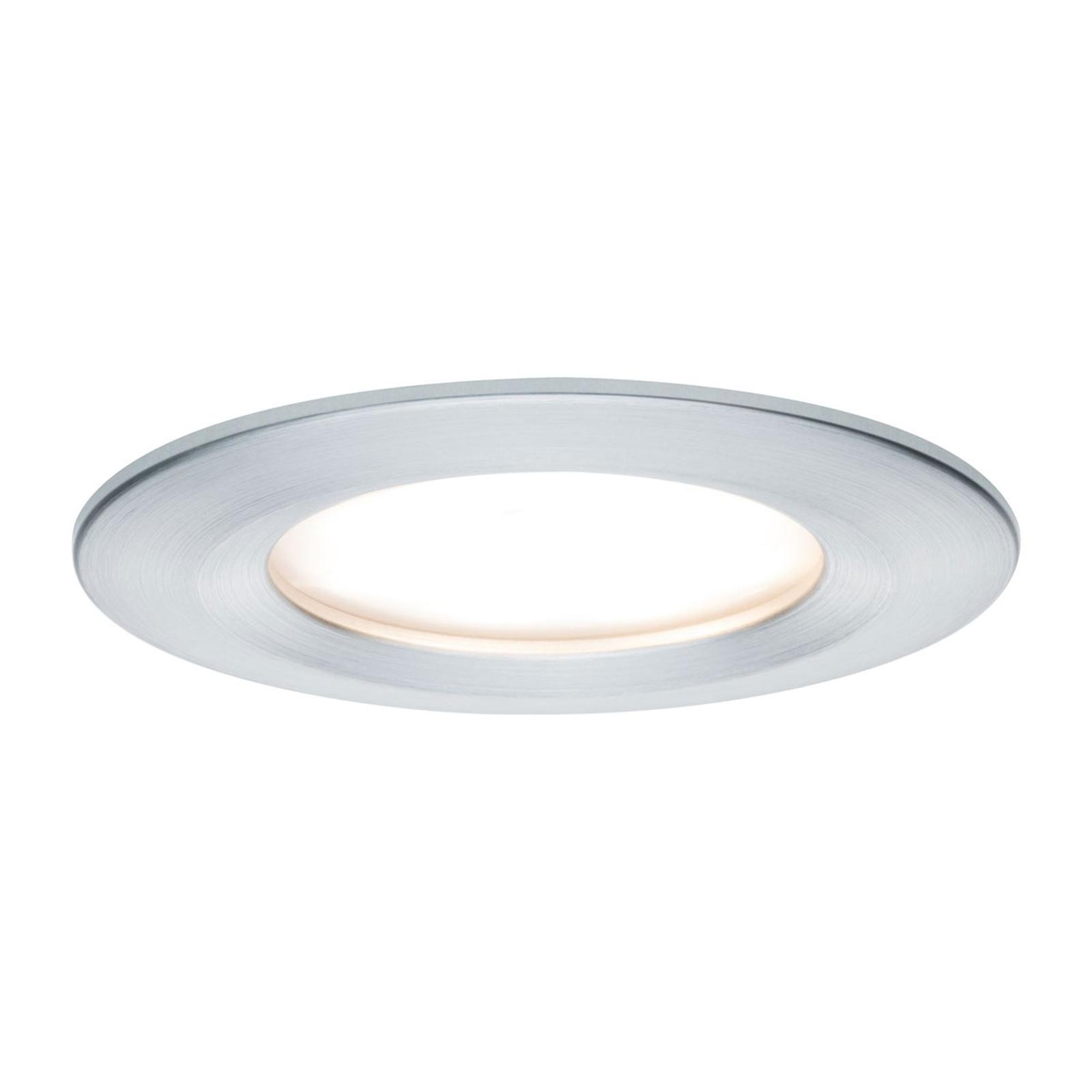 Paulmann LED-spot Nova Coin rund, dimbar aluminium