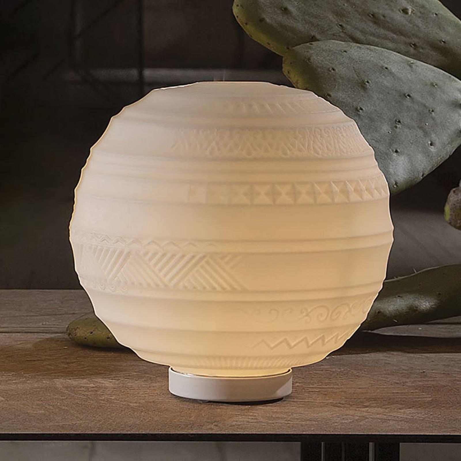 Karman Braille - glazen tafellamp, 25 cm
