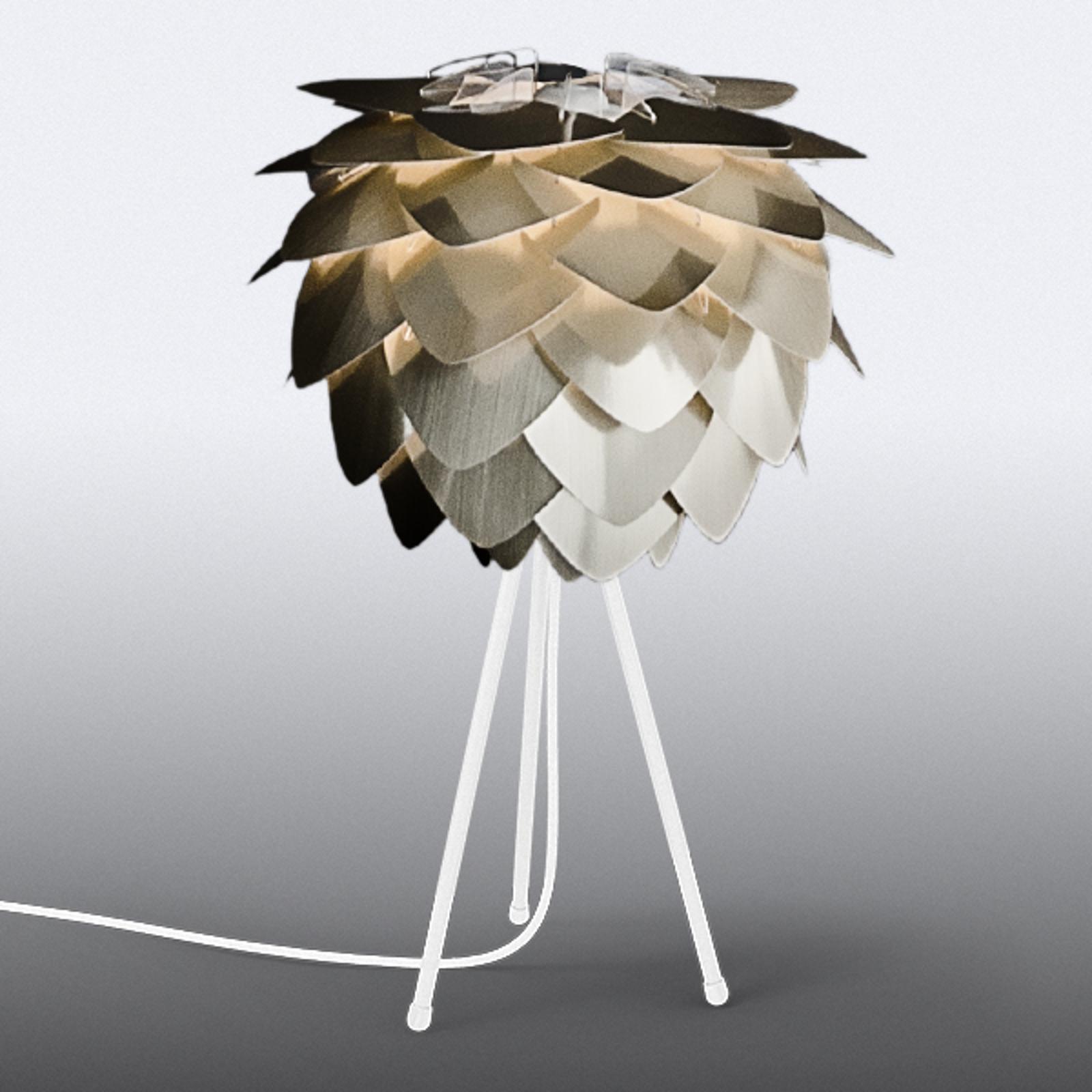 Skärm i mässing – trebent bordslampa Silvia mini