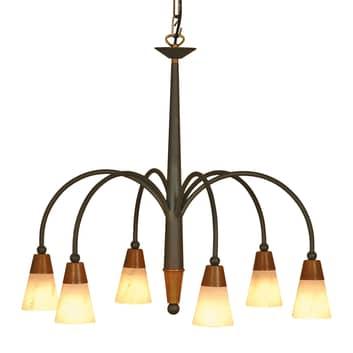 Kronformad taklampa STELLA med 6 ljuskällor