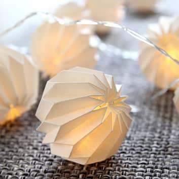 Zarte LED-Lichterkette Paper Flower weiß