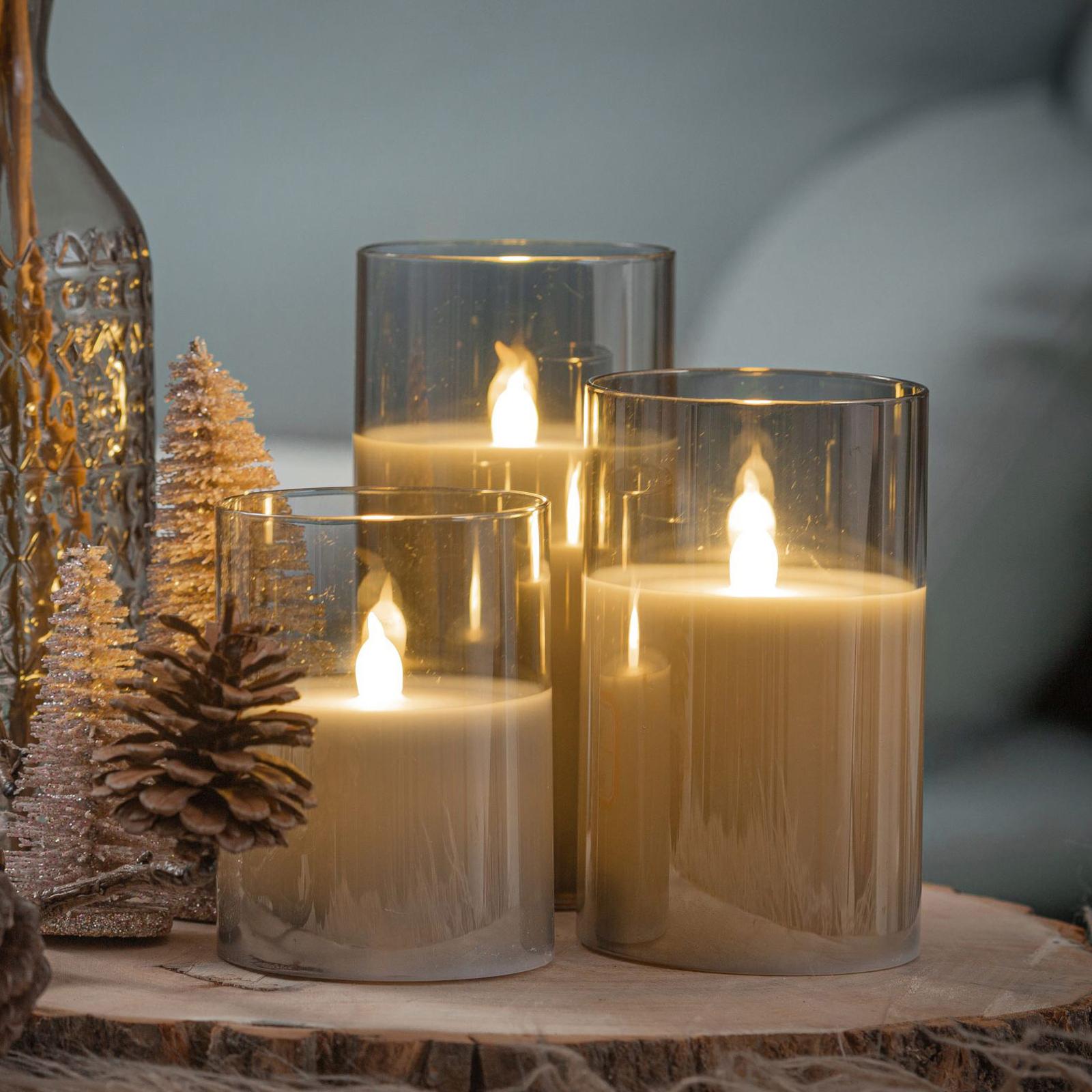Pauleen Classy Smokey Candle LED-Kerze 3er Set