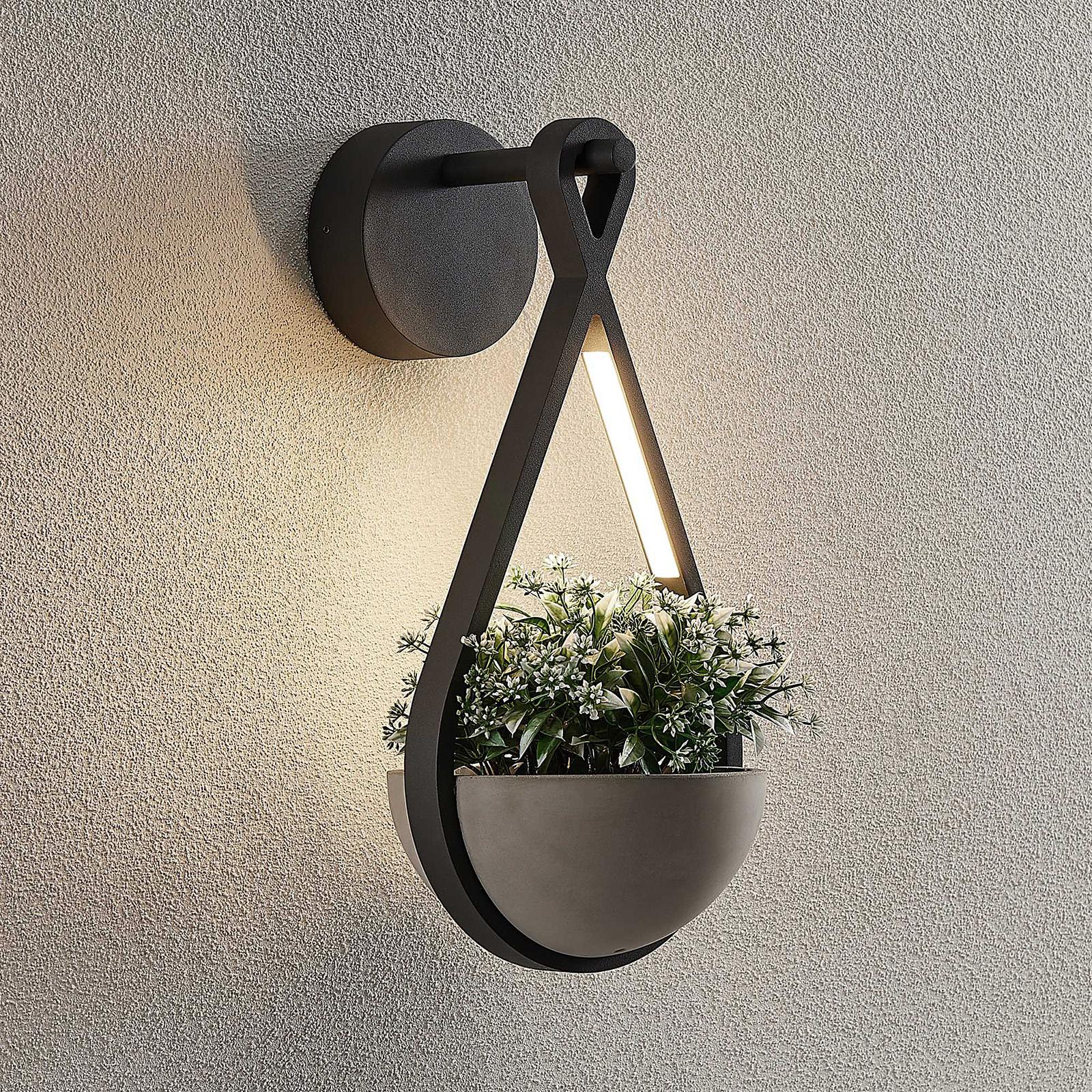 Lucande Florka applique d'extérieur LED