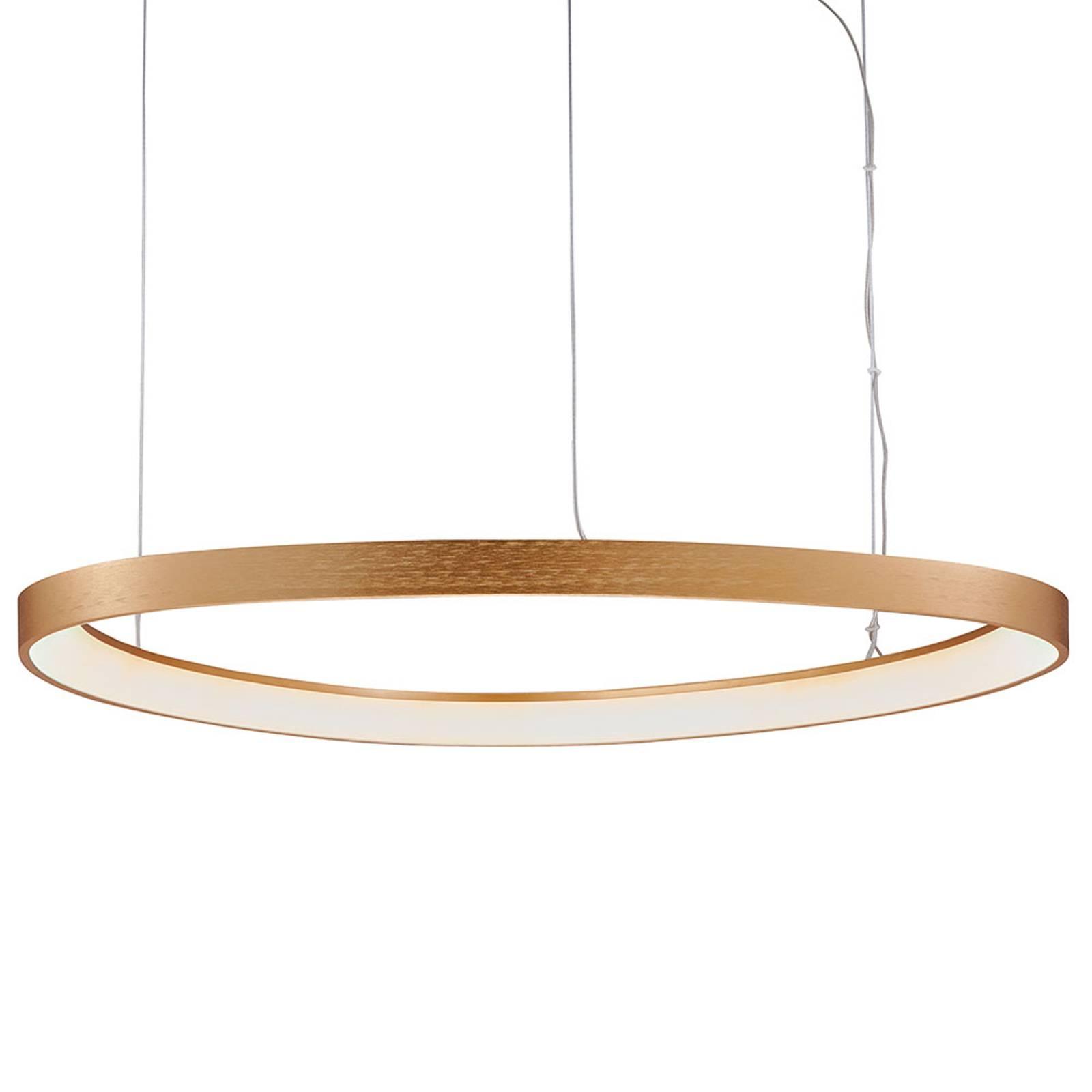 Suspension LED Loop, dorée, Ø 80cm