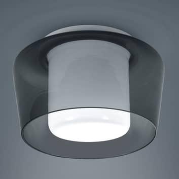 Helestra Canio - loftlampe i glas, røggrå