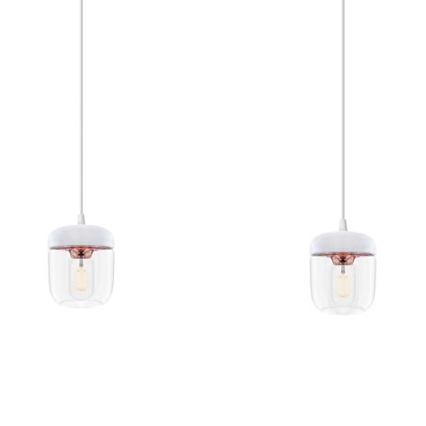 UMAGE Acorn lámpara colgante 2 luces blanco/cobre
