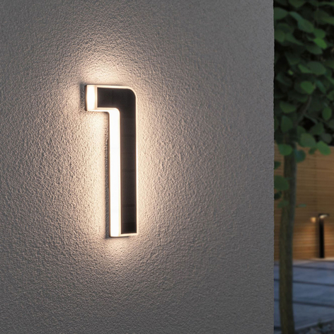 Numéro de maison mur extérieur éclairage 12w//230v numéros Luminaire Mi Aube Capteur