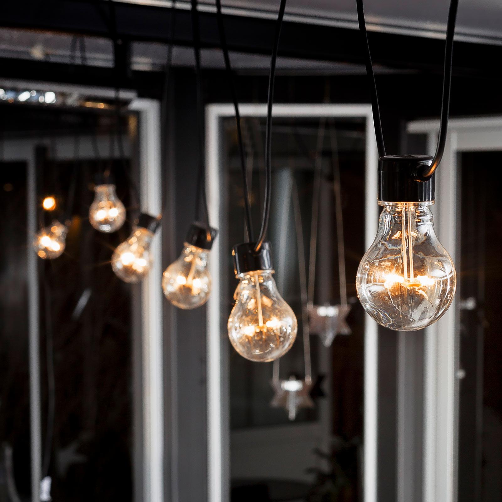 LED-Lichterkette Biergarten Erweiterung, bernstein