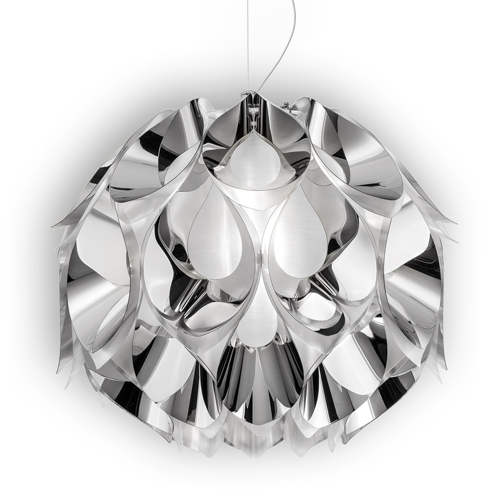 Srebrna lampa wisząca FLORA, 50 cm