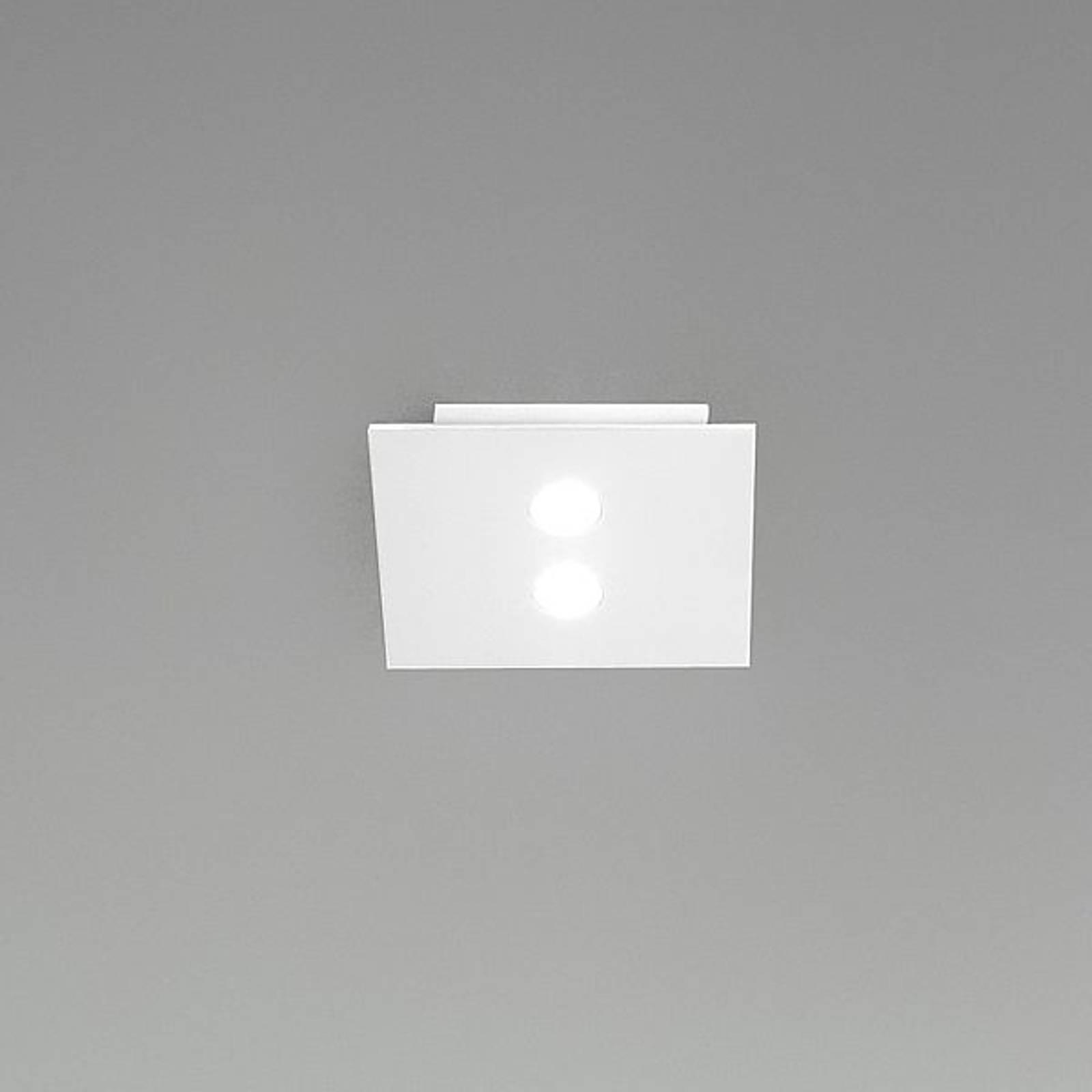 Kleine led-plafondlamp Slim, 2-lichts, wit