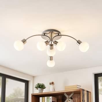 Lindby Tancerdi lámpara LED de techo en níquel