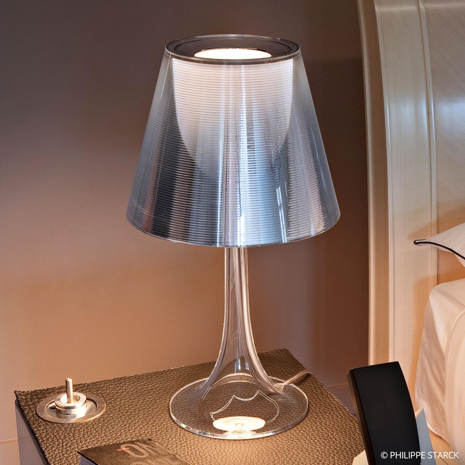 Bijzondere tafellamp MISS K, zilver