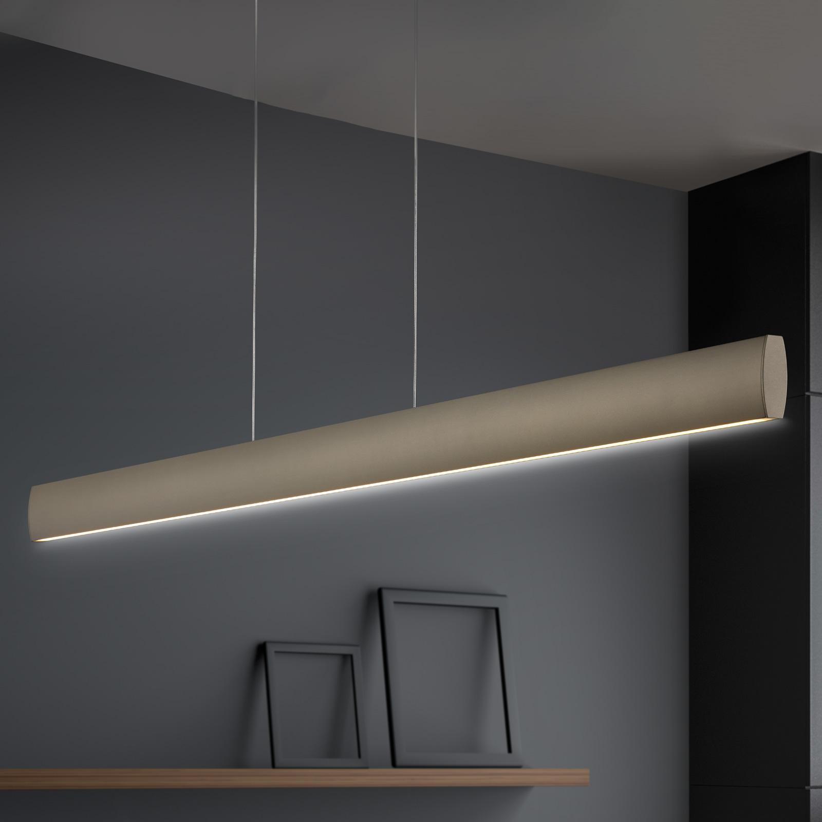 LED hanglamp Runa, brons, lengte 92 cm
