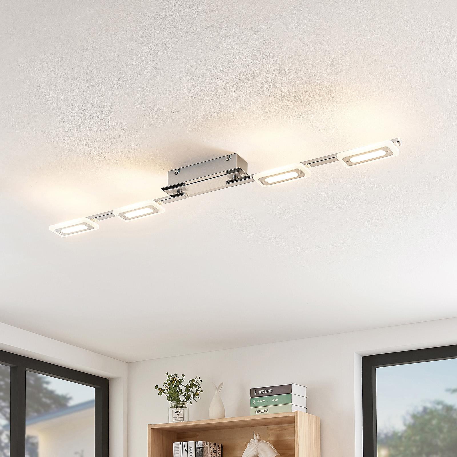 Lindby Silvanos LED-Deckenleuchte in Chrom, 4-fl.