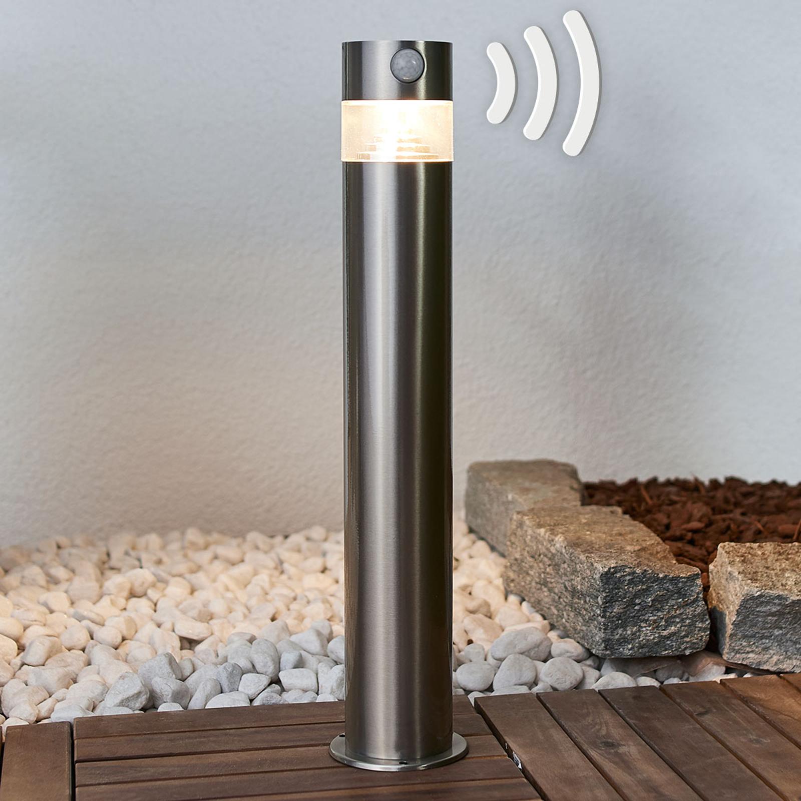 Kalypso - lampioncino a LED solare in acciaio inox