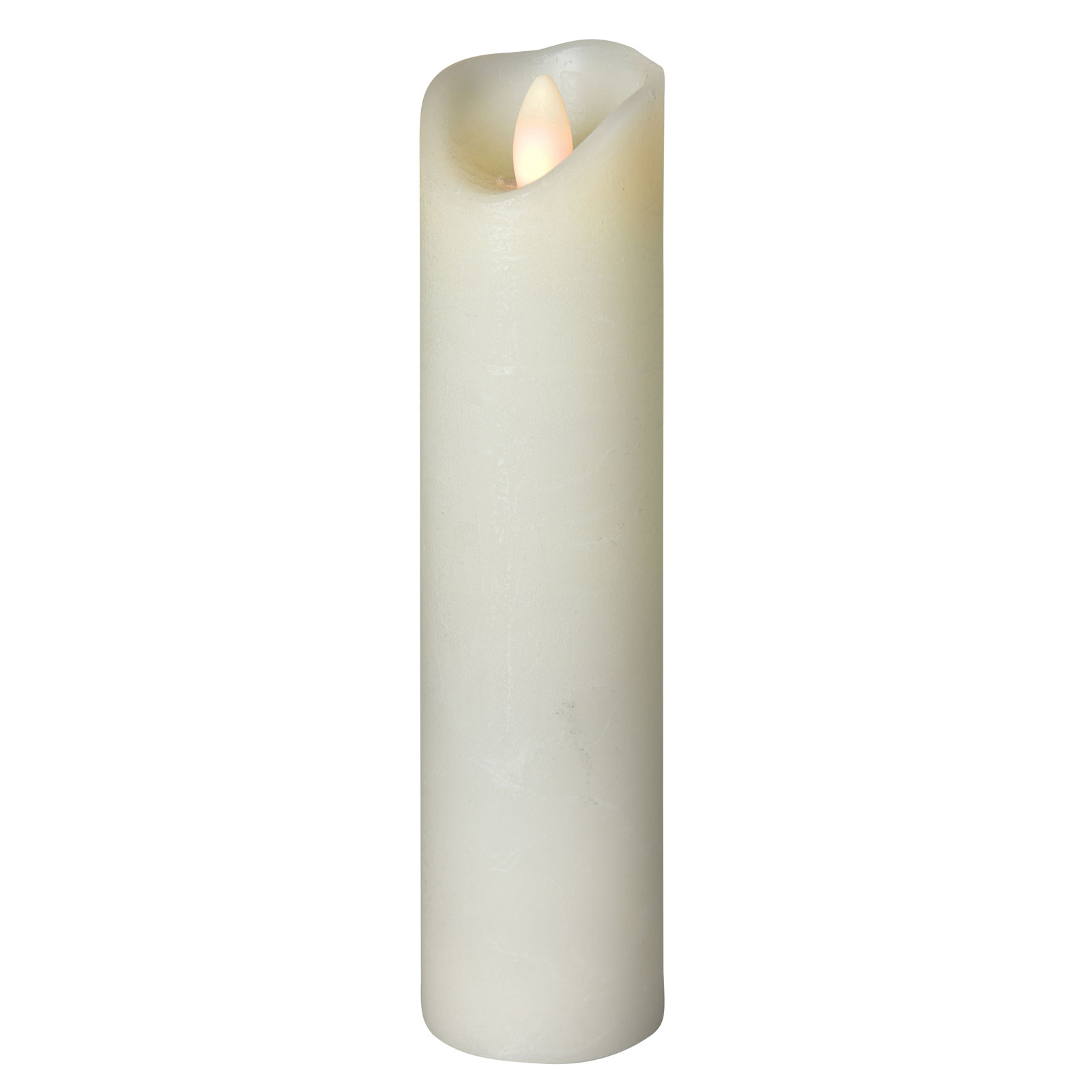 LED-Kerze Shine, Ø 5 cm, elfenbein, Höhe 20 cm