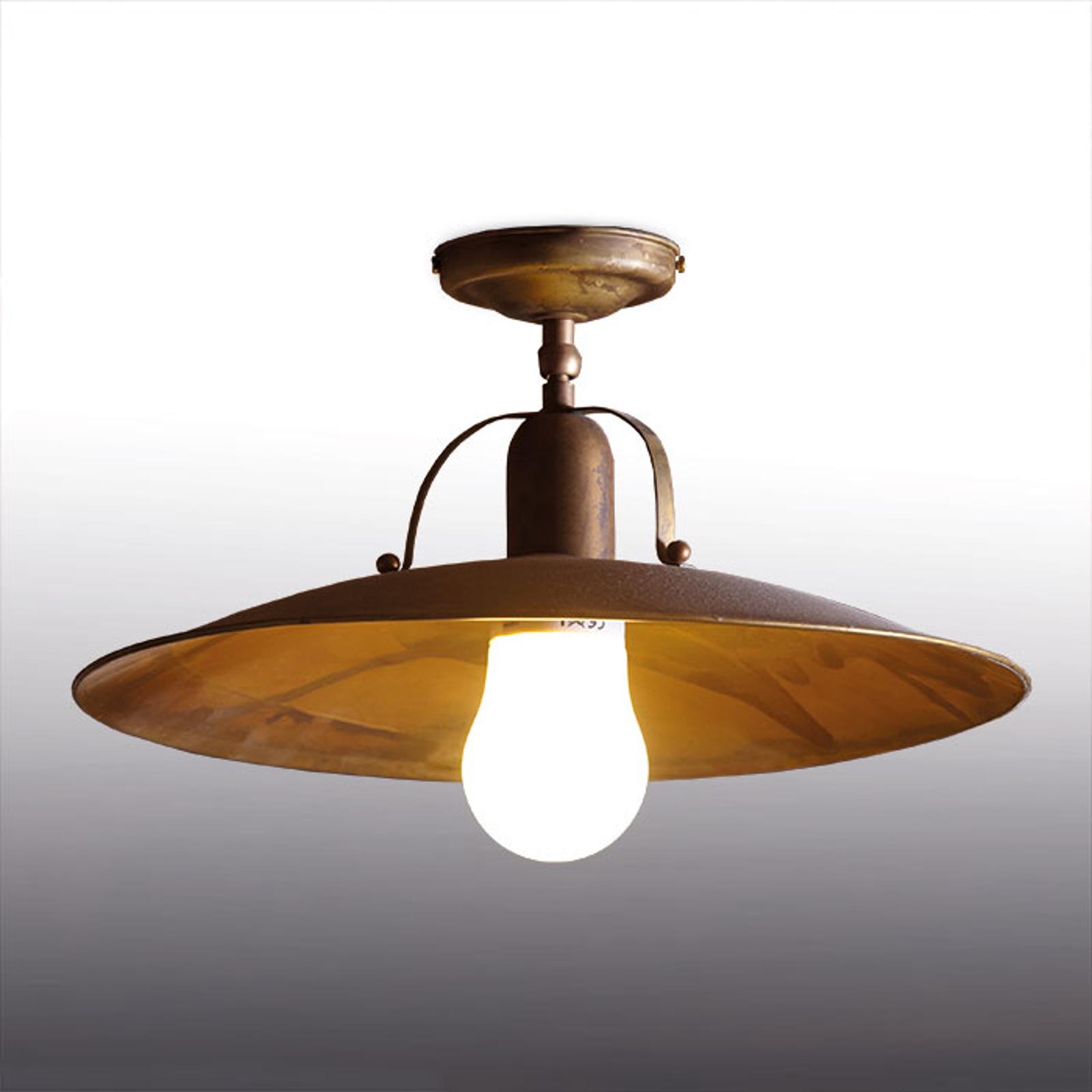 Rustiek werkende plafondlamp Osteria, 39 cm