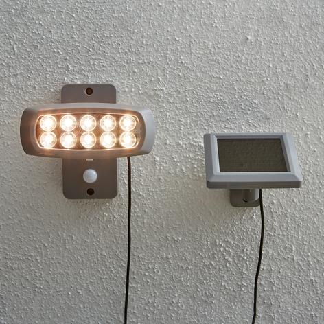 Solcelle-LED-spot Powerspot med sensor, grå