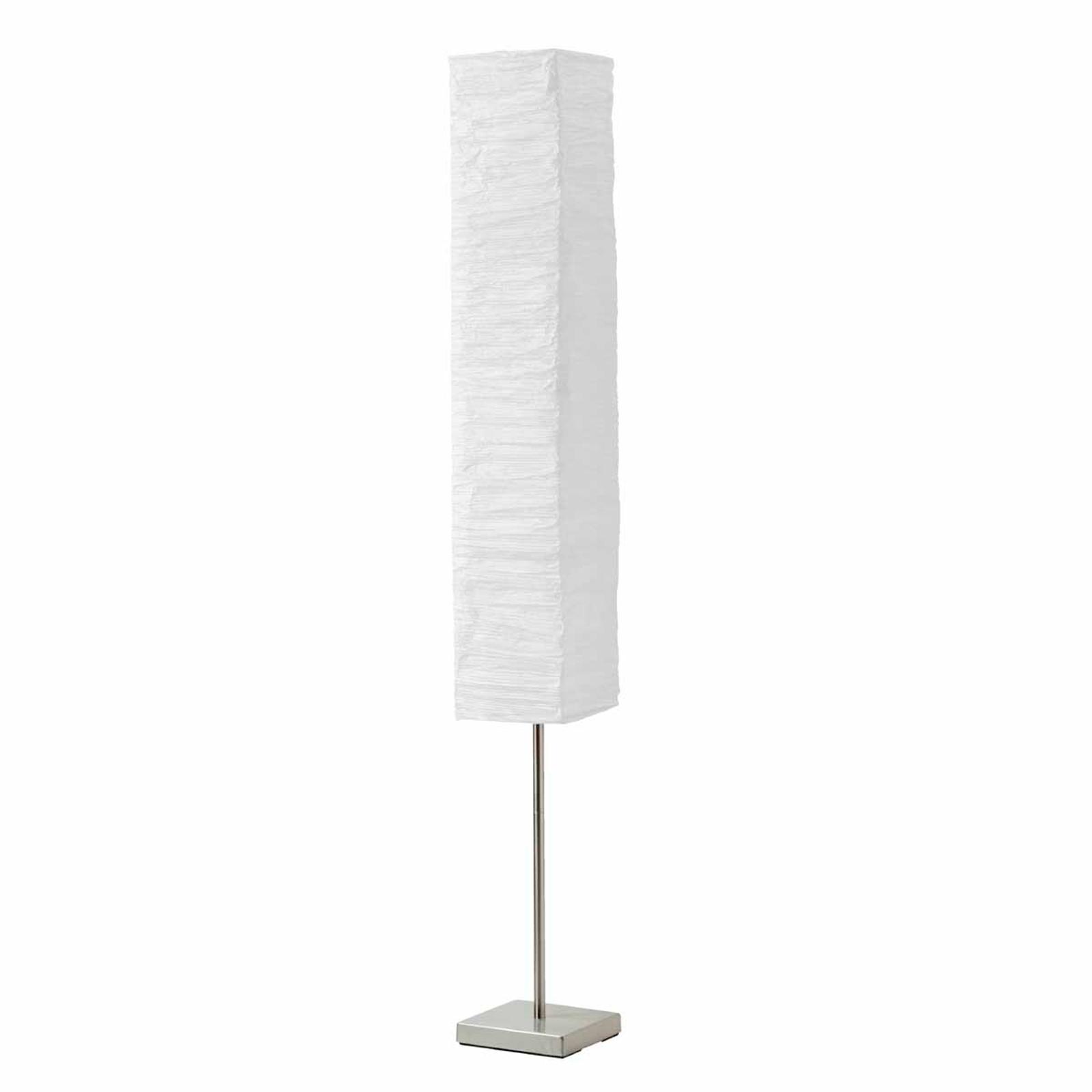 Poliedrica lampada da pavimento Nerva bianco