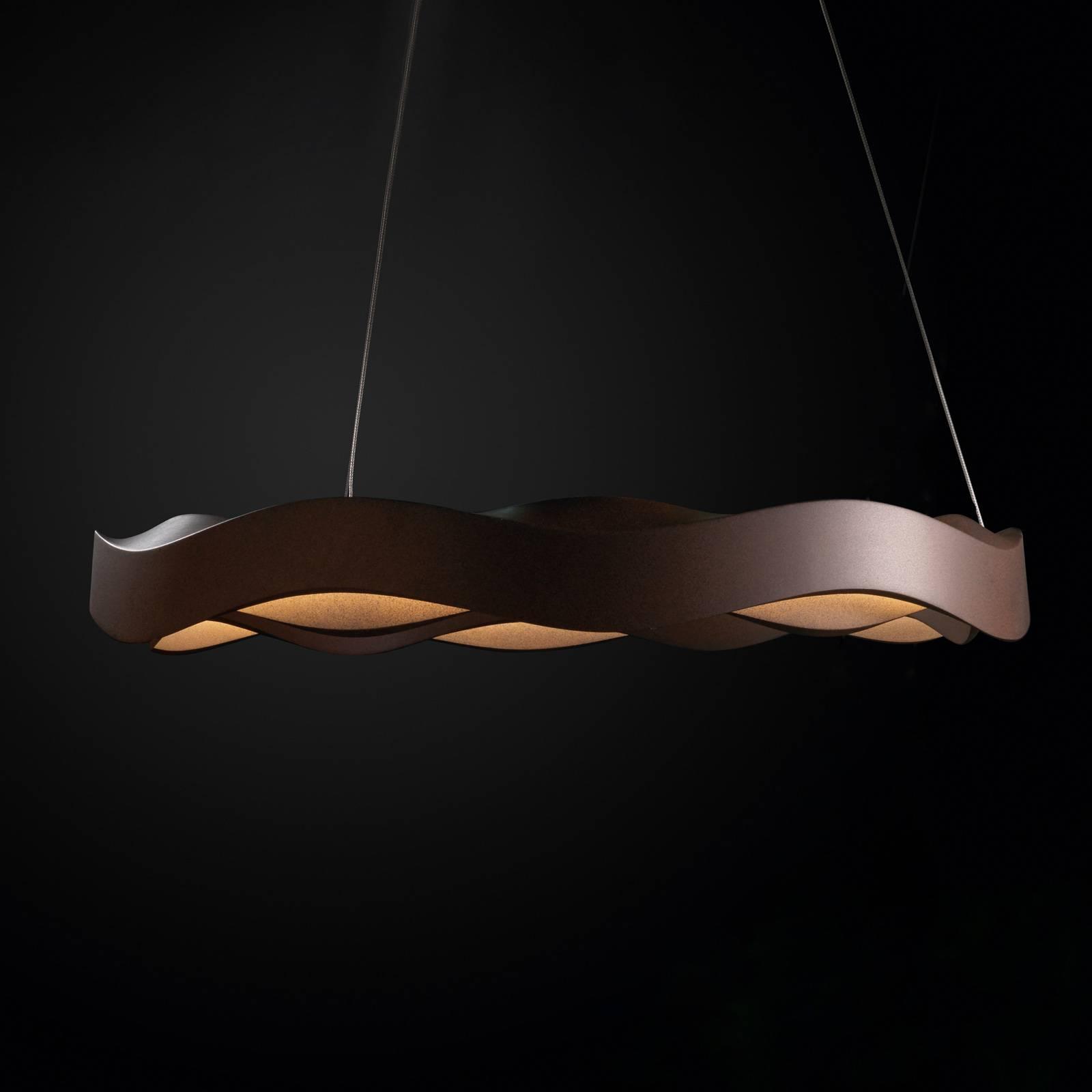 Grok Hello lampa wisząca, ściemniana, Ø 63 brązowa