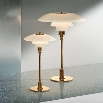 Louis Poulsen PH 2/1 da tavolo, ottone/bianco