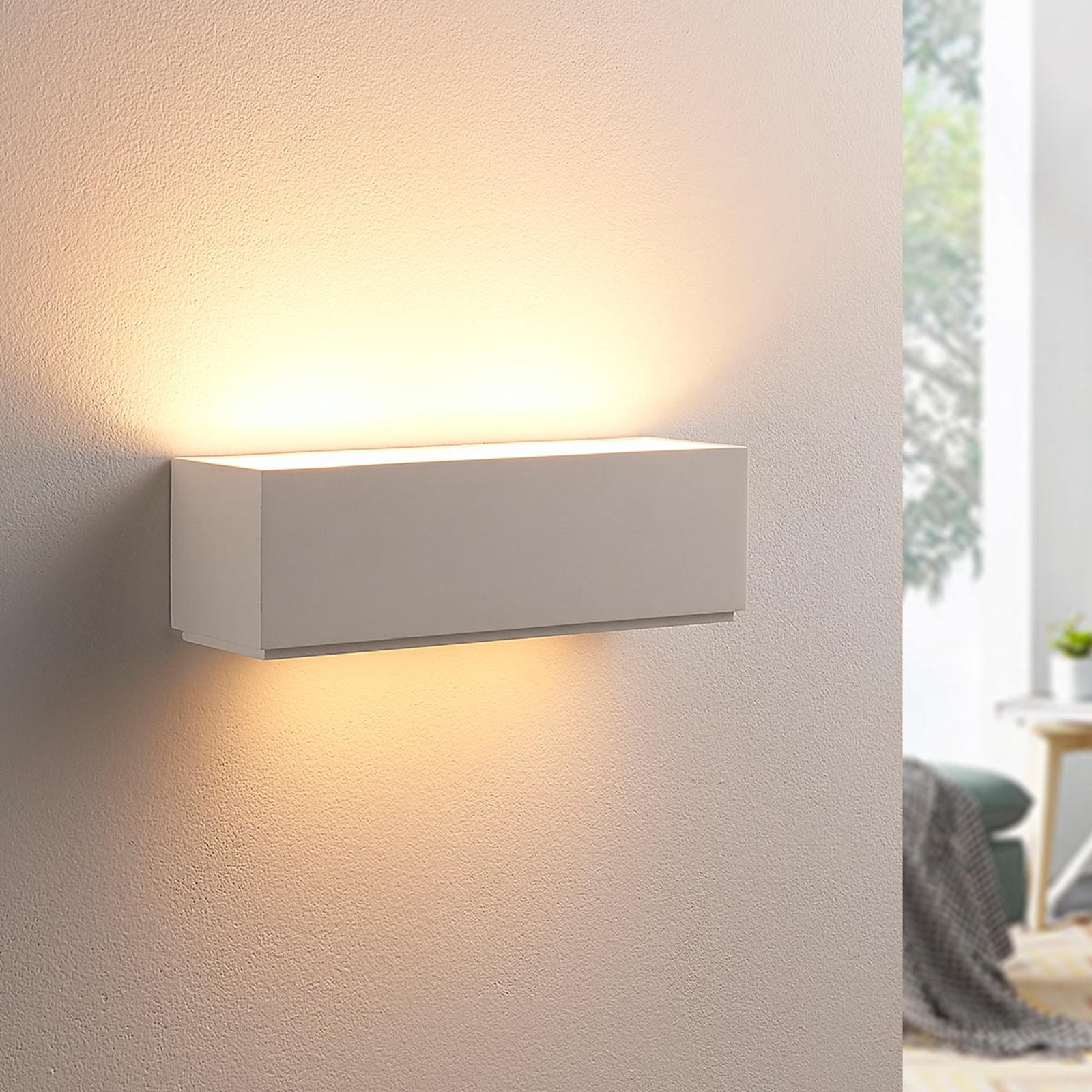 Sencillo aplique de escayola Benno, LED G9
