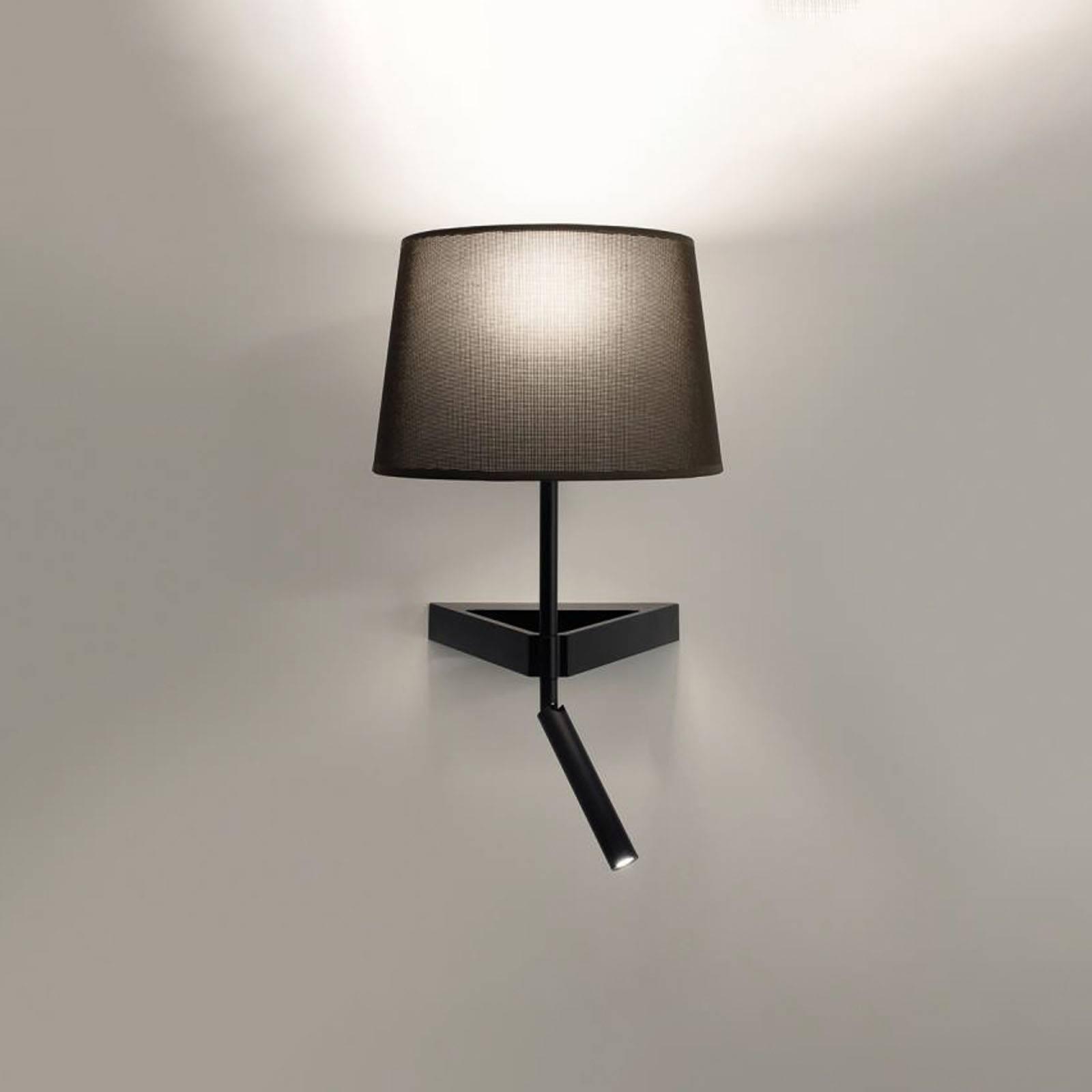 LOUM Bivio wandlamp met leesarm kap bruin