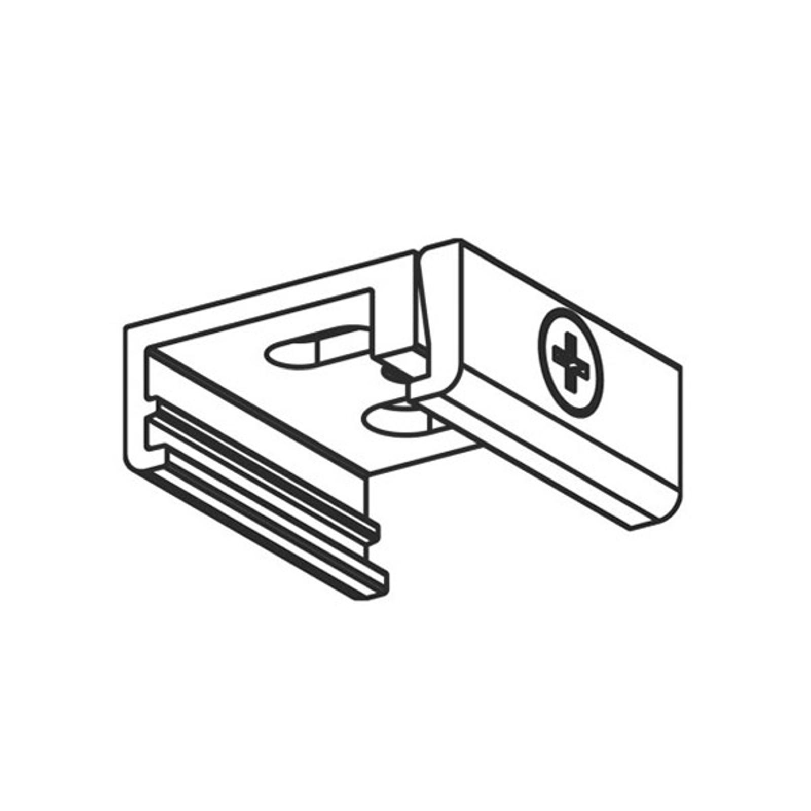 Supporto soffitto per binario trifase Noa, bianco