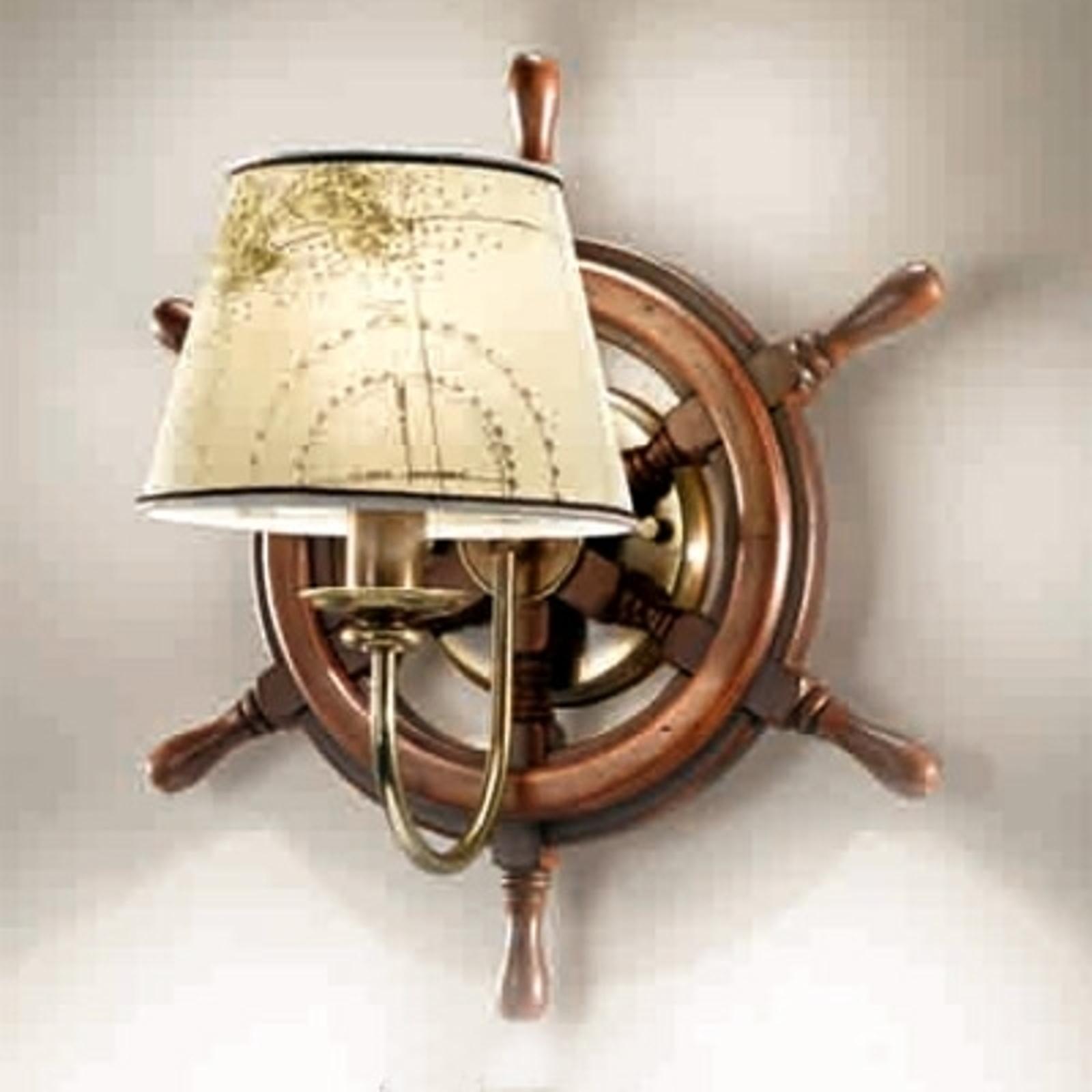 Vägglampa Porto en arm och intressant formgivning