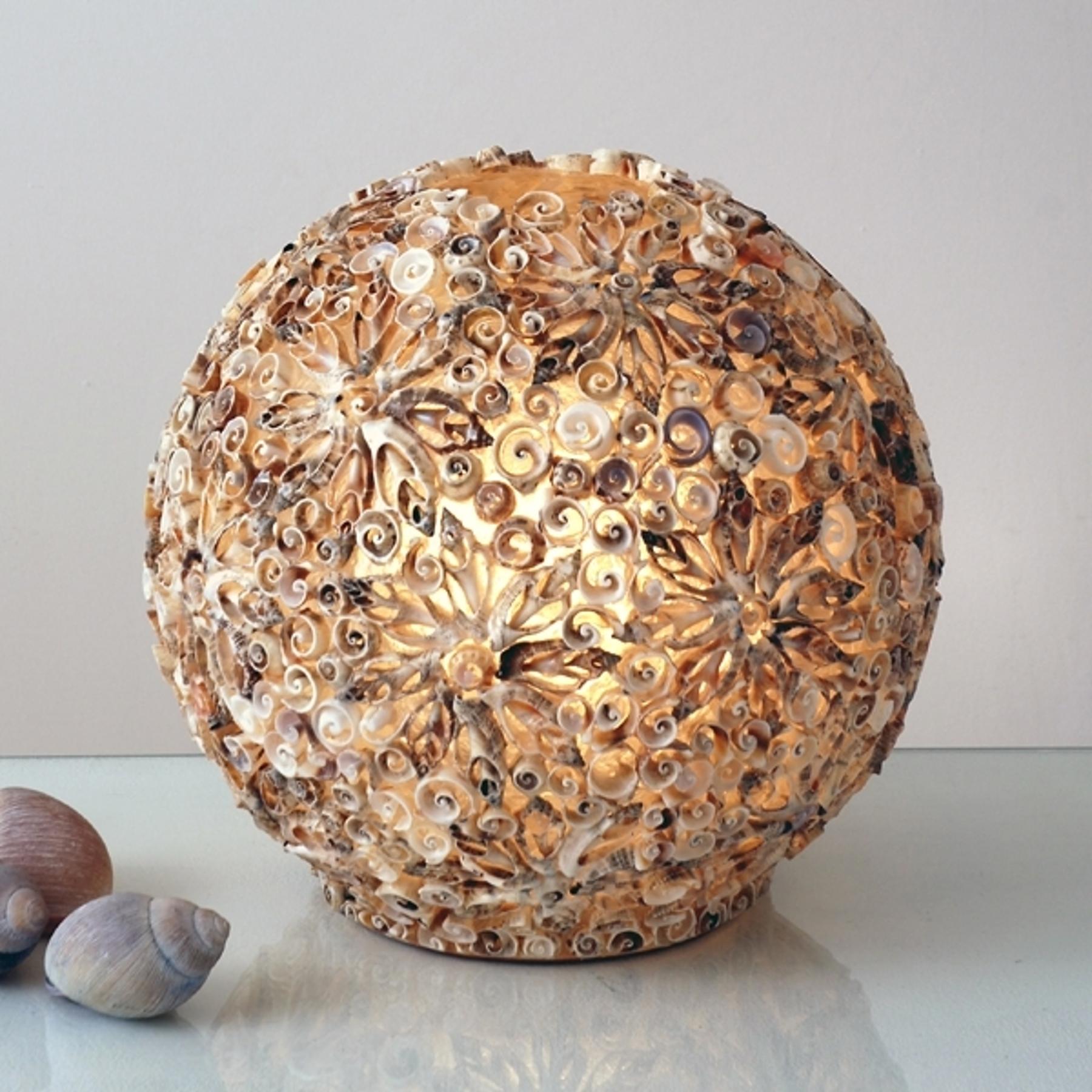 Dekorative Tischleuchte MUSCHELBALL, 30 cm