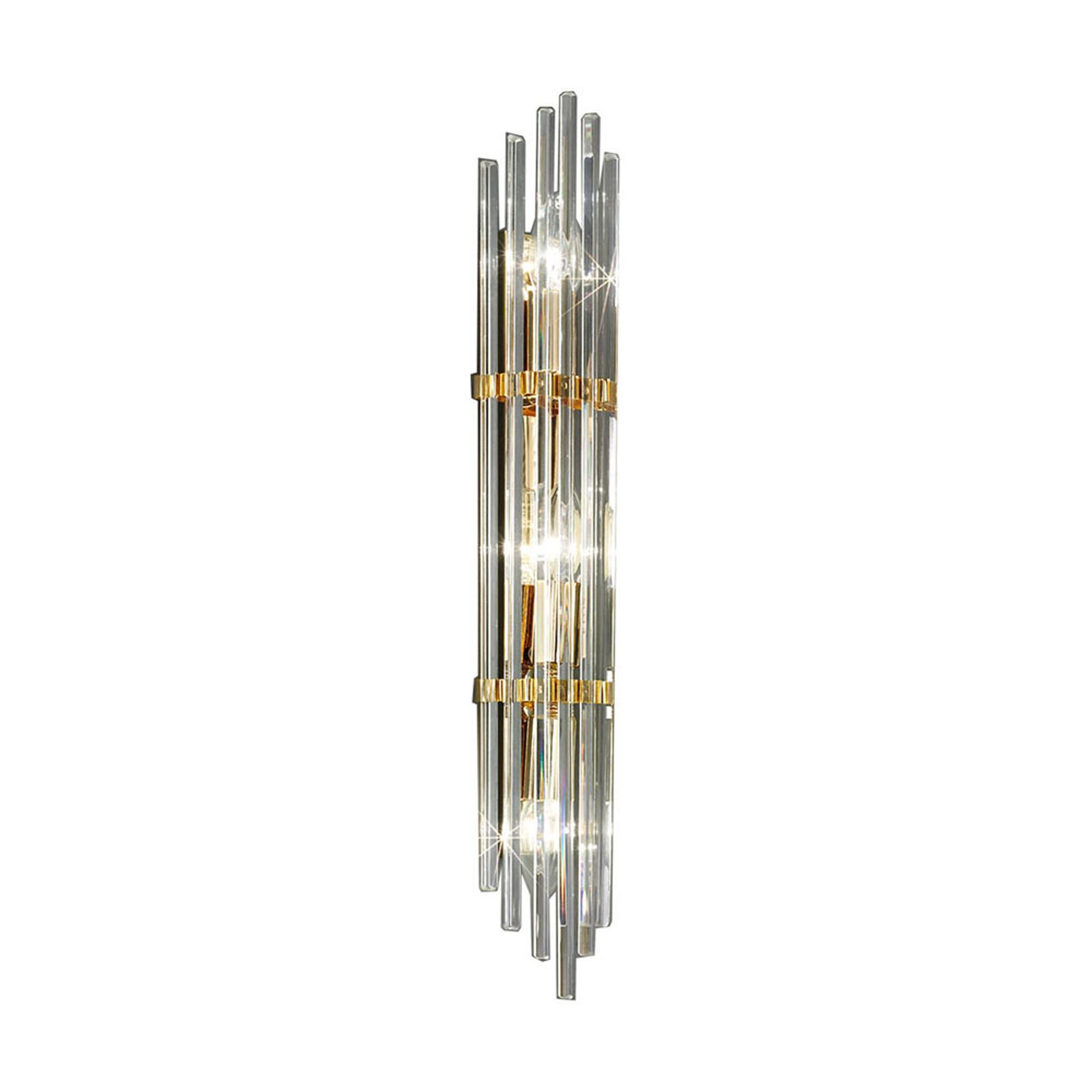 Lampa ścienna Ontario, wysokość 60 cm, złota