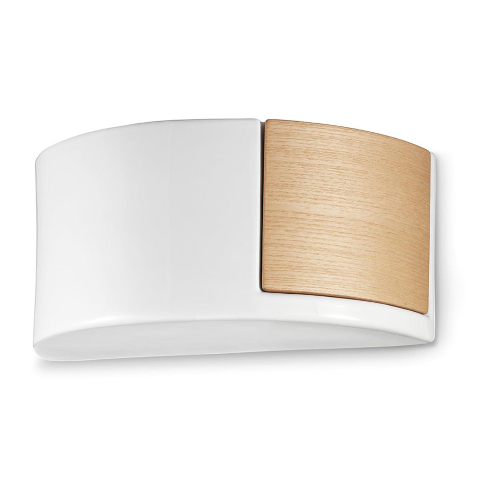 Nordisk, keramisk væglampe C1795/27 hvid