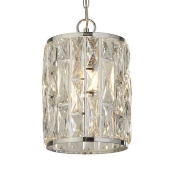 Hänglampa Bijou, skärm med kristaller, Ø 22 cm