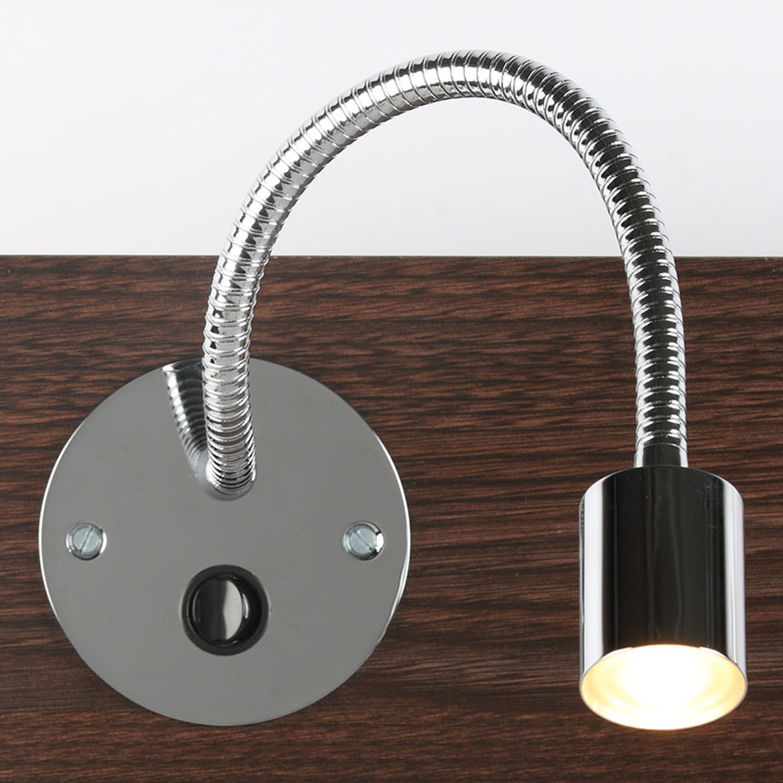 Applique encastrée LED LD-19 bras flexible, chromé