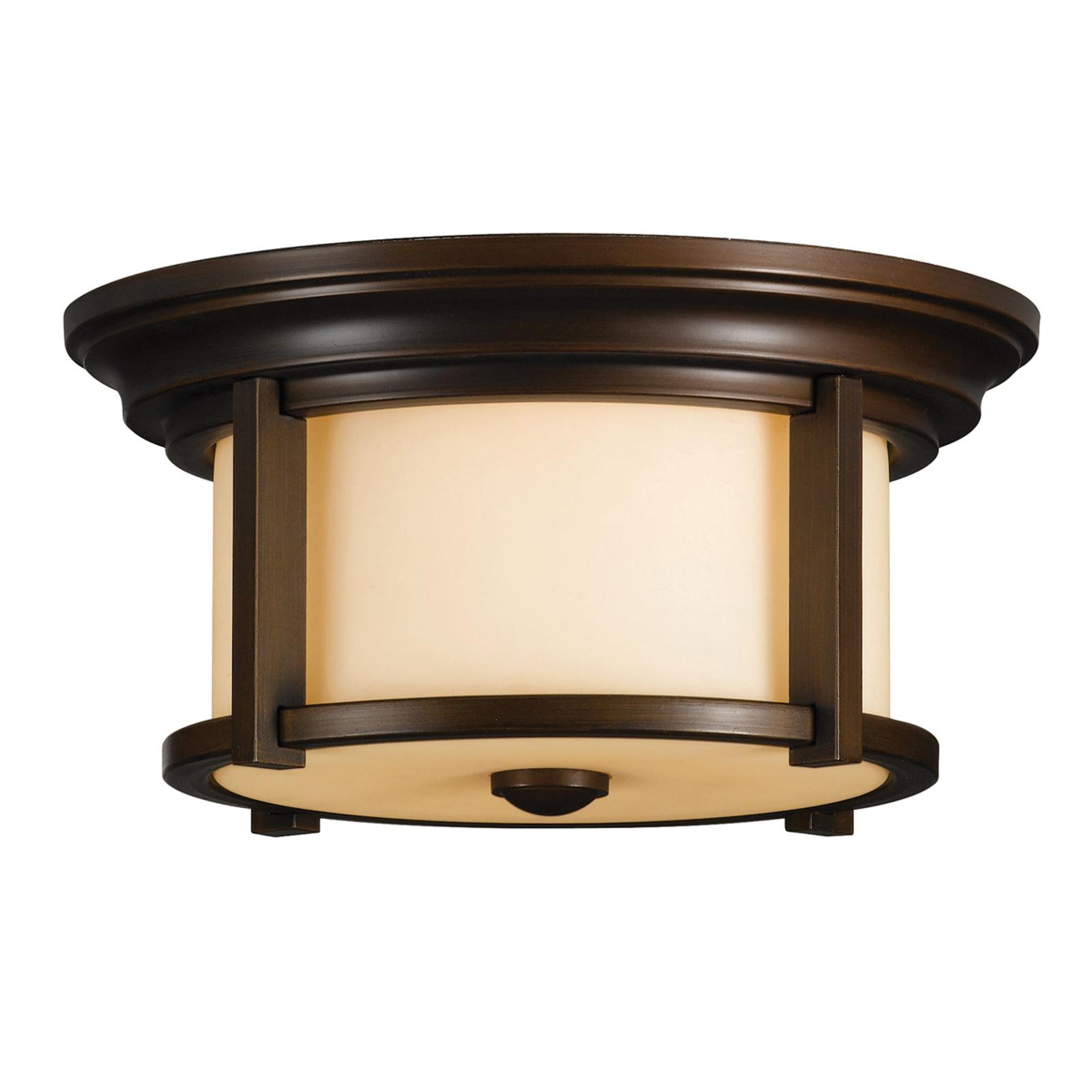 Buiten plafondlamp Merrill in brons
