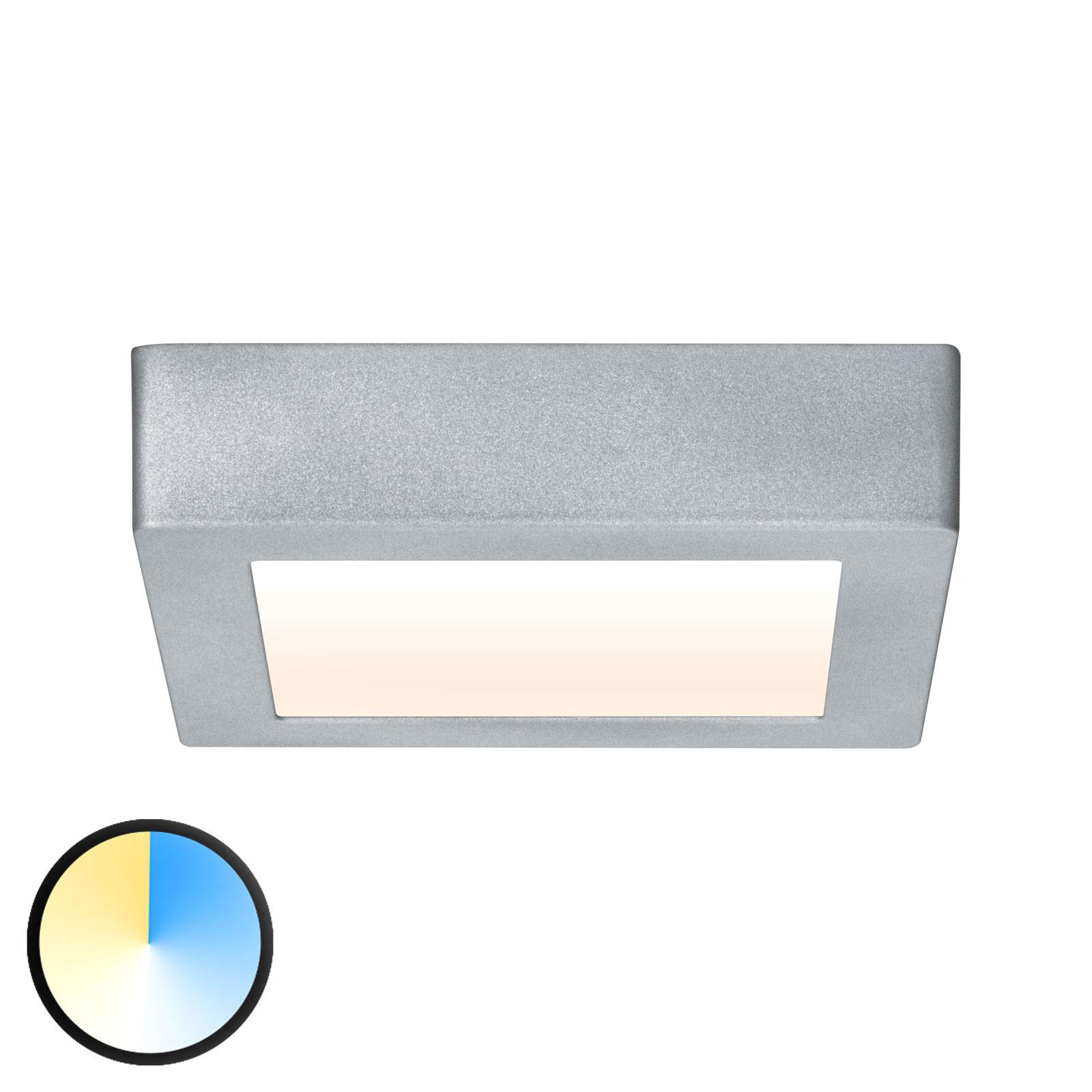 Paulmann Carpo LED plafondlamp chroom 17x17cm