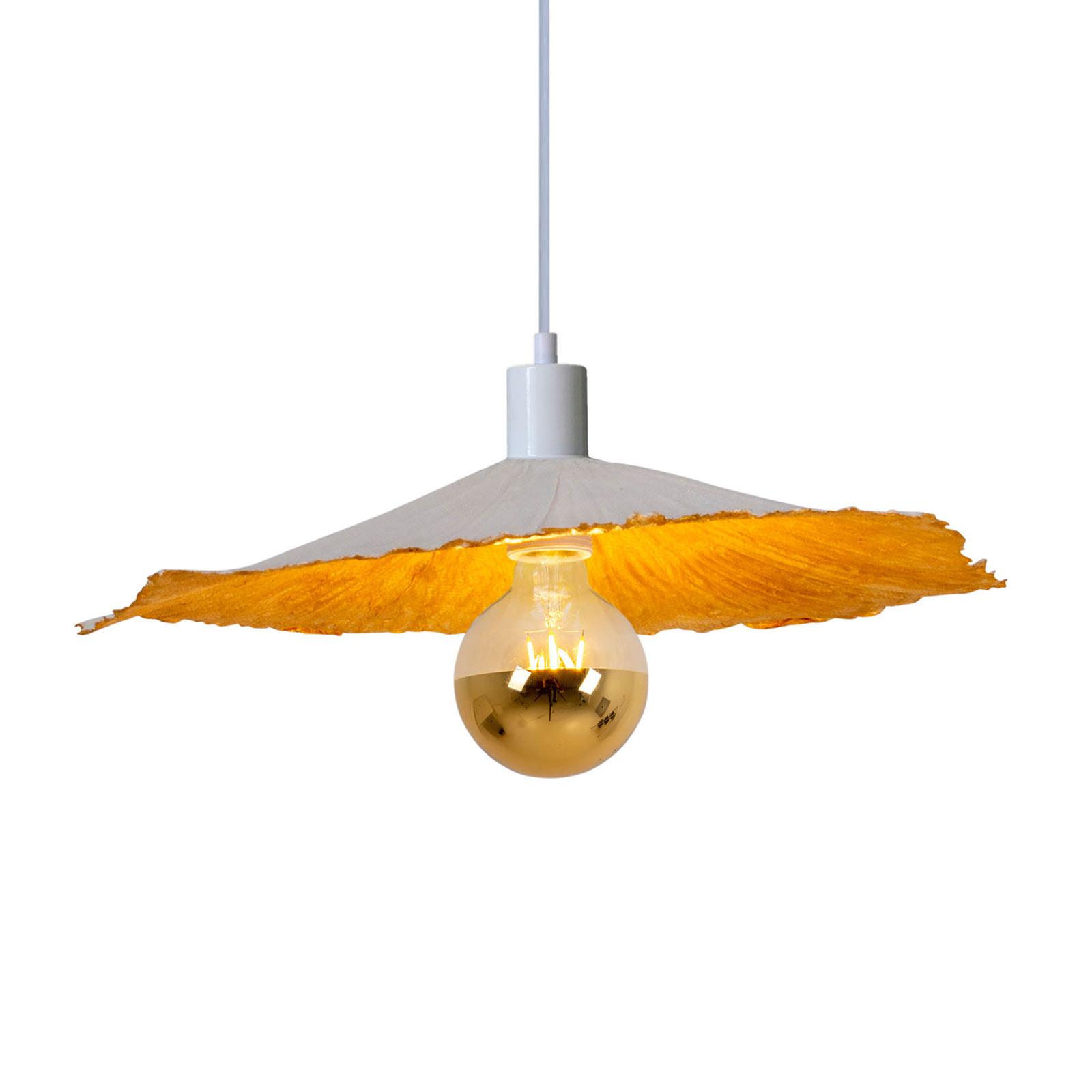 Závěsné světlo Crazy Paper, bílá-zlatá, Ø 41cm