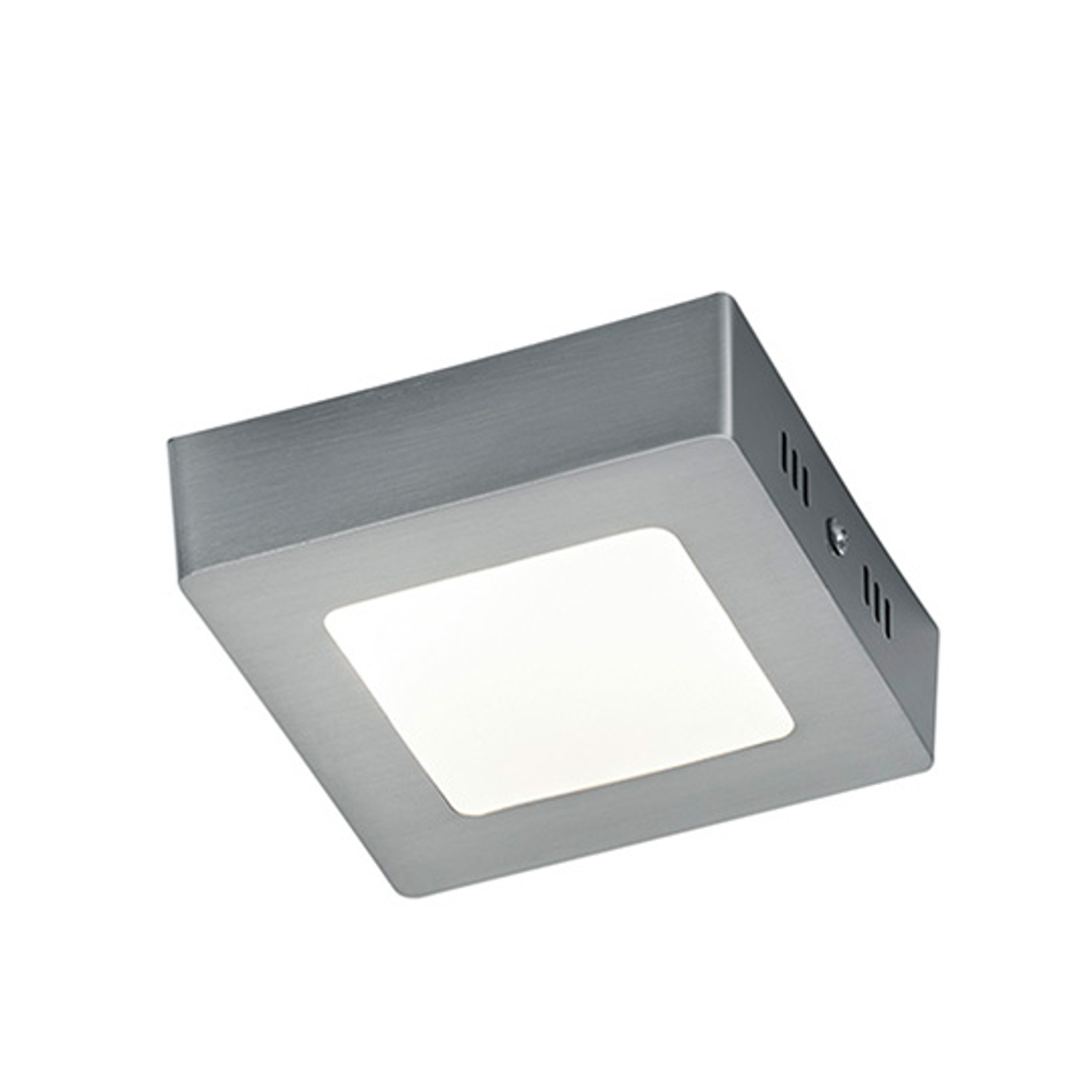 Nikkelkleurige LED plafondlamp Zeus