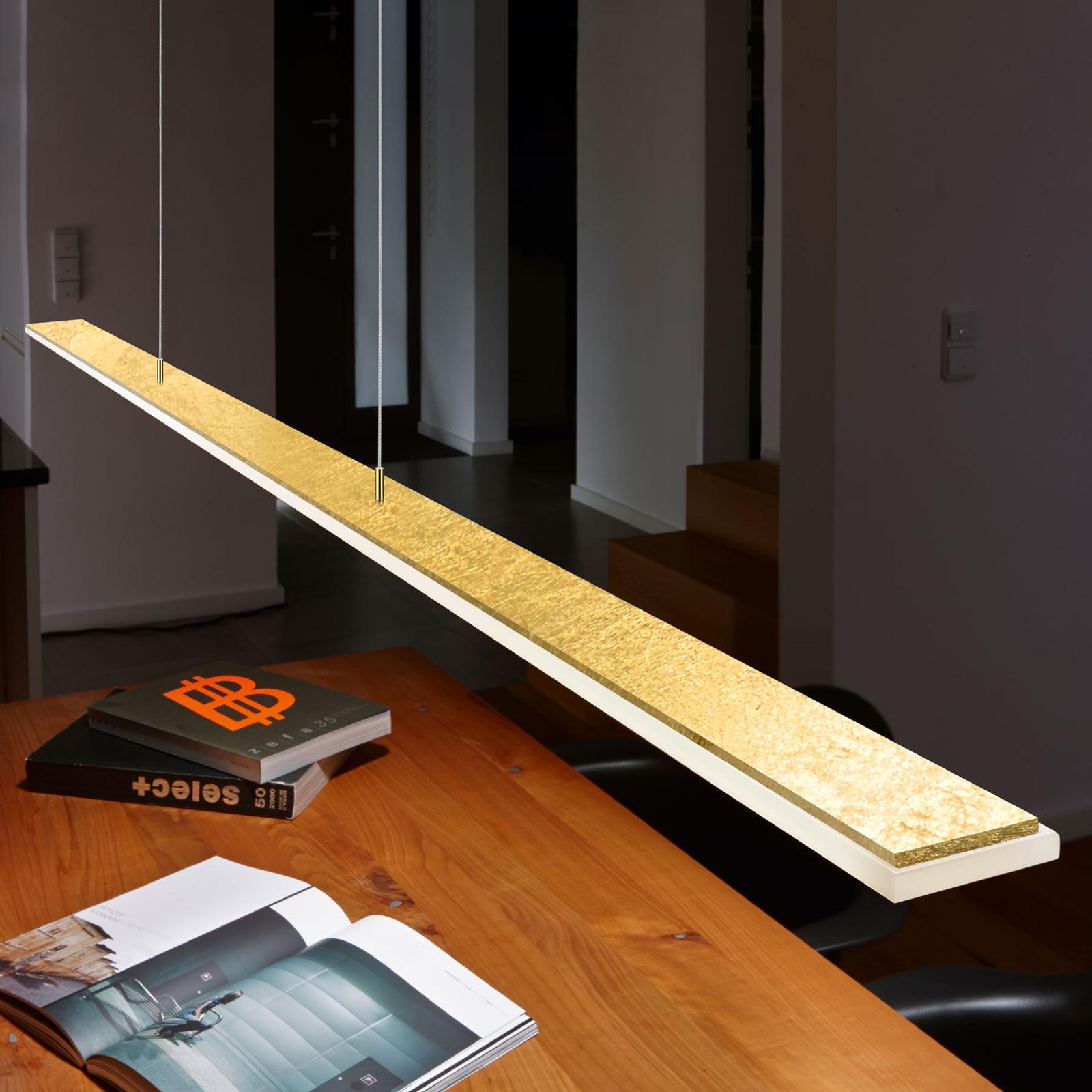 BANKAMP Fly LED-Hängeleuchte ZigBee blattgold