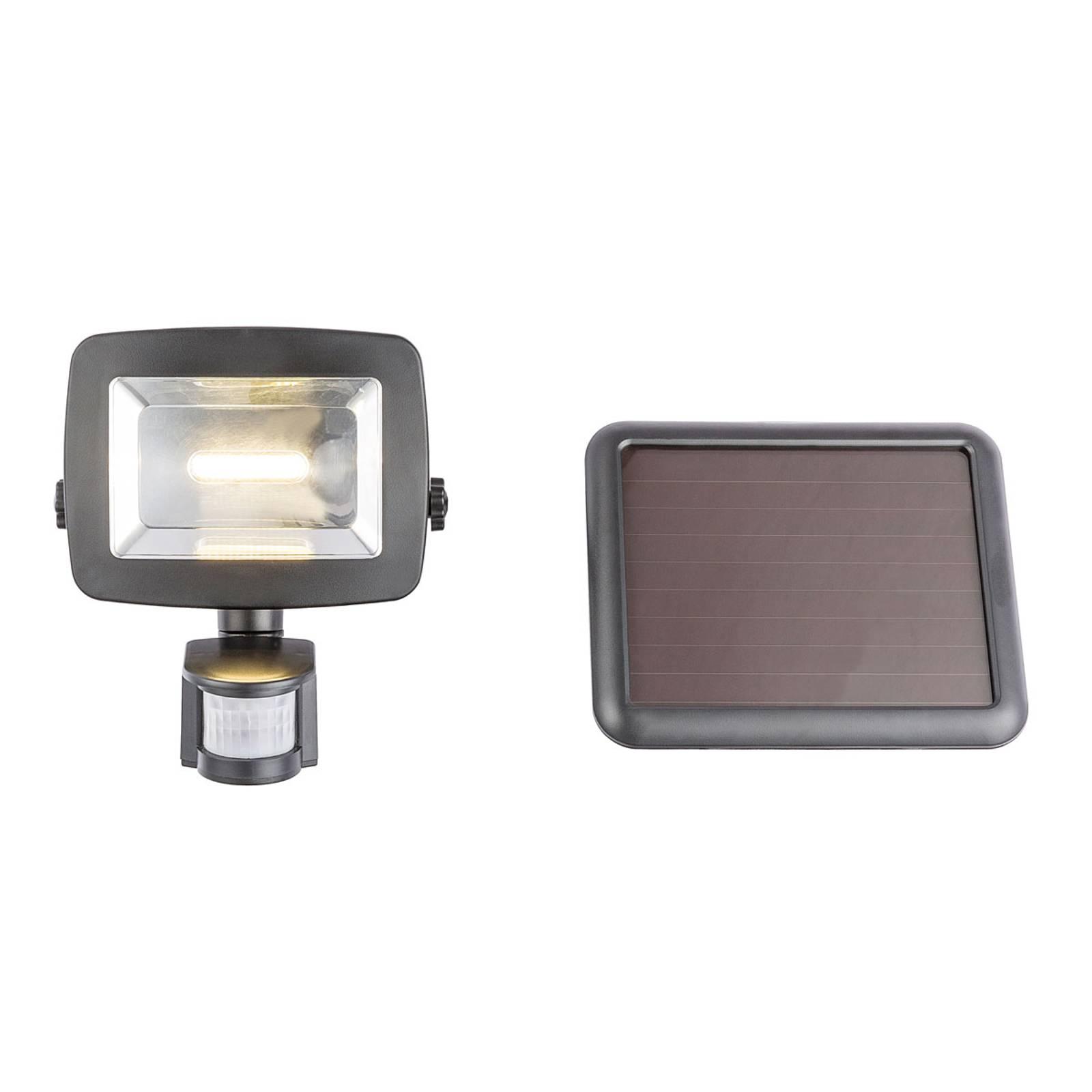 LED-Solar-Außenwandleuchte 37201S, Sensor, schwarz