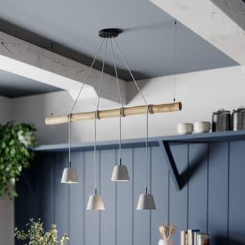 Lucande Asta hanglamp met betonnen kappen