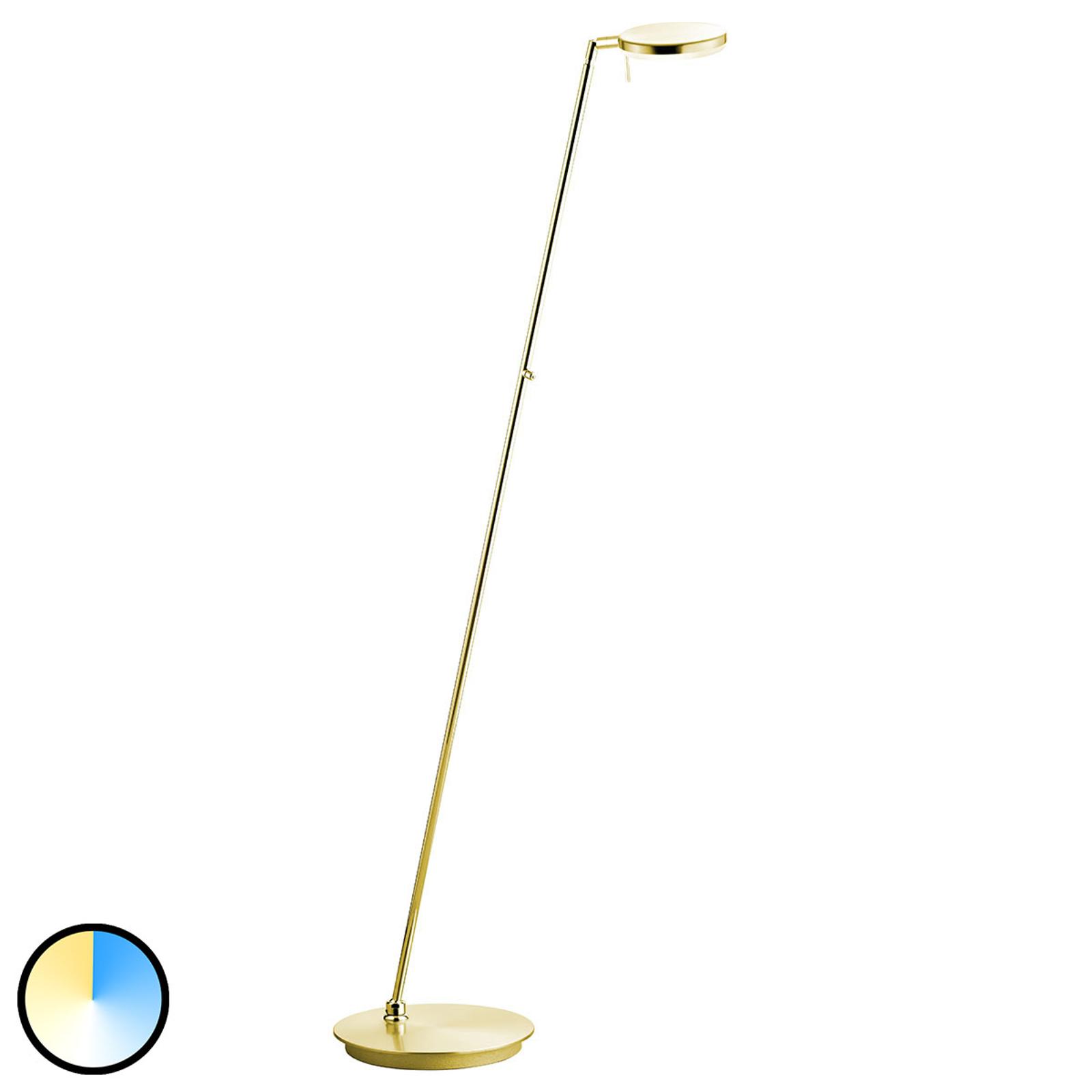 B-Leuchten Omega Stehlampe CCT-Technik, messing