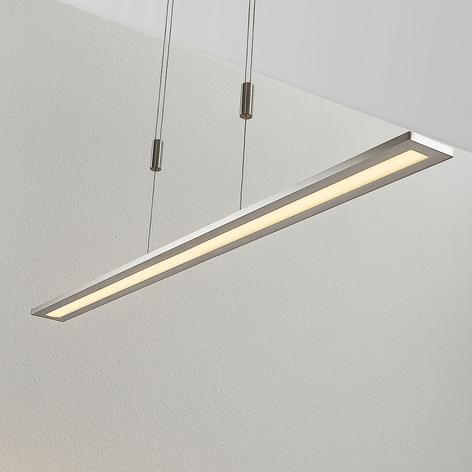 LED-Pendellampe Esteban in Nickel, dimmbar