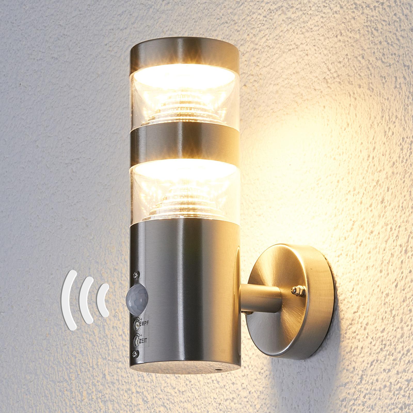 Applique d'extérieur LED Lanea droite, capteur