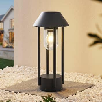 Lucande Olinum sockellampa, mörkgrå