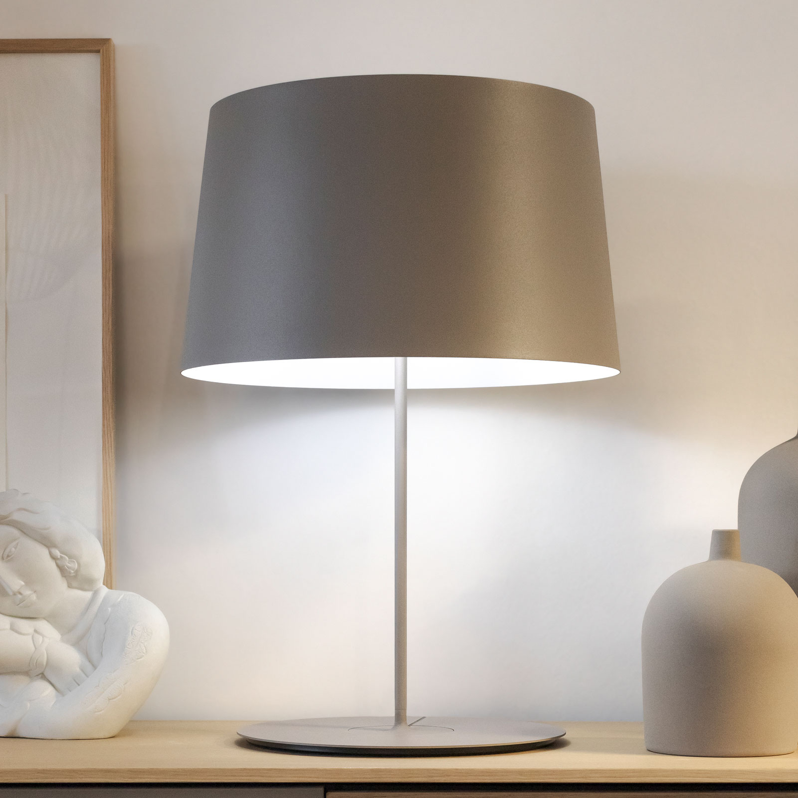 Vibia Warm 4901 lampe à poser, Ø 42cm, beige